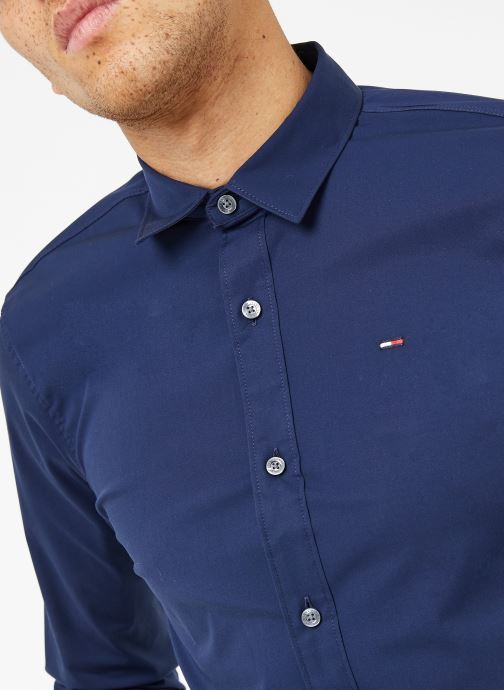 Kleding Tommy Jeans TJM ORIGINAL STRETCH SHIRT Blauw voorkant