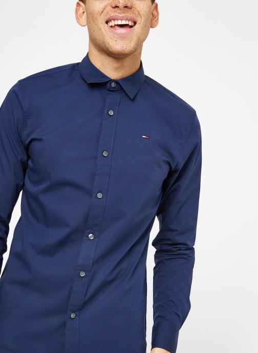 Kleding Tommy Jeans TJM ORIGINAL STRETCH SHIRT Blauw detail