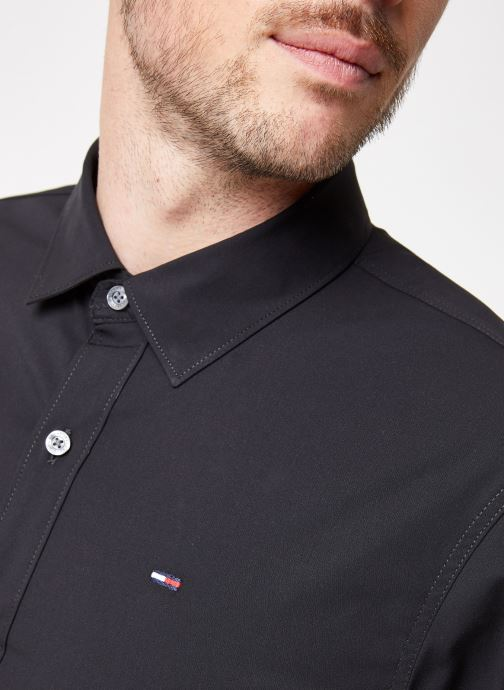 Vêtements Tommy Jeans TJM ORIGINAL STRETCH SHIRT Noir vue face