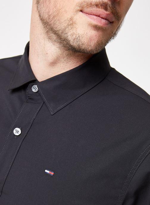 Vêtements Tommy Jeans TJM ORIGINAL STRETCH SHIRT Noir vue face