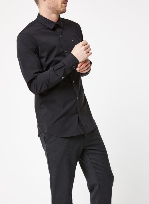 Vêtements Tommy Jeans TJM ORIGINAL STRETCH SHIRT Noir vue droite