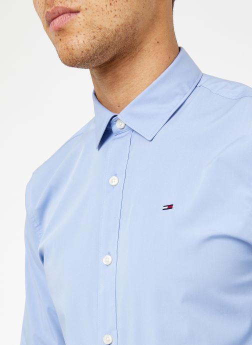 Vêtements Tommy Jeans TJM ORIGINAL STRETCH SHIRT Bleu vue face