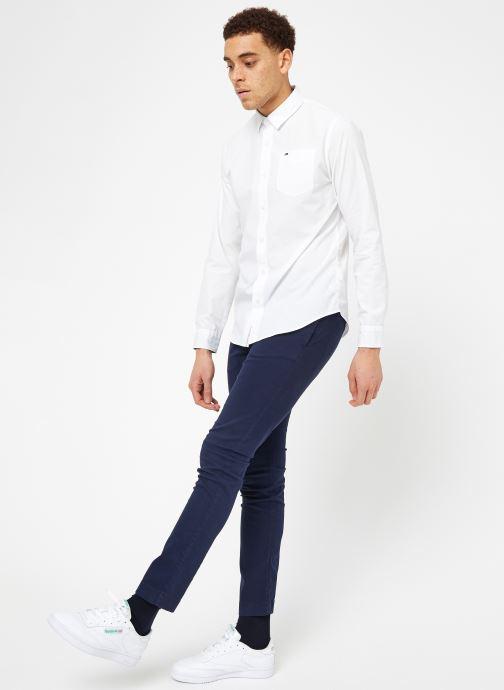 Vêtements Tommy Jeans TJM ORIGINAL END ON END SHIRT Blanc vue bas / vue portée sac