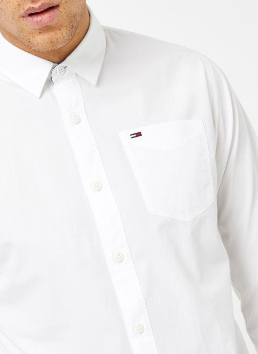 Vêtements Tommy Jeans TJM ORIGINAL END ON END SHIRT Blanc vue face
