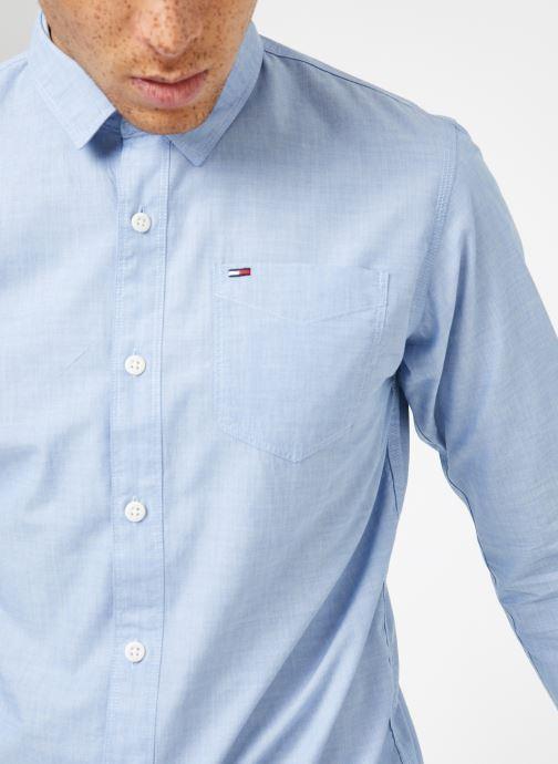 Kleding Tommy Jeans TJM ORIGINAL END ON END SHIRT Blauw voorkant