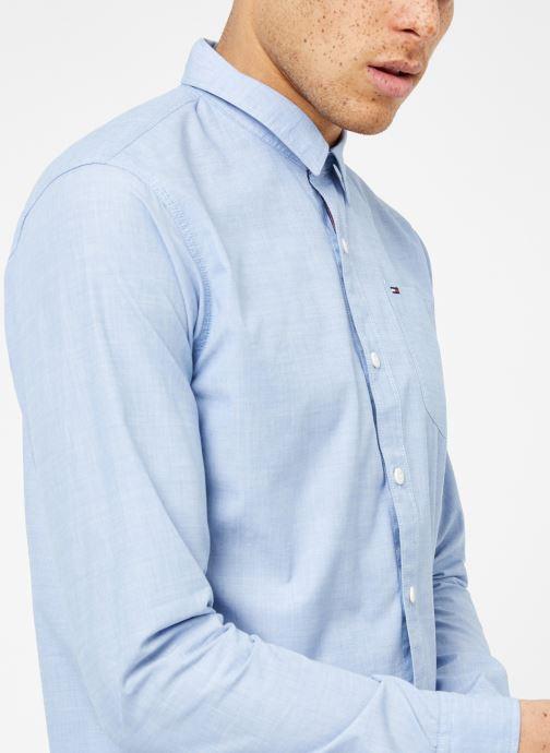 Kleding Tommy Jeans TJM ORIGINAL END ON END SHIRT Blauw detail