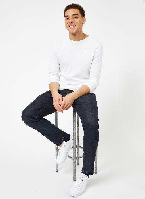 Tøj Tommy Jeans TJM ORIGINAL RIB LONGSLEEVE TEE Hvid se forneden