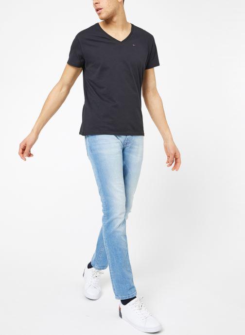 Kleding Tommy Jeans TJM ORIGINAL JERSEY V NECK TEE Zwart onder