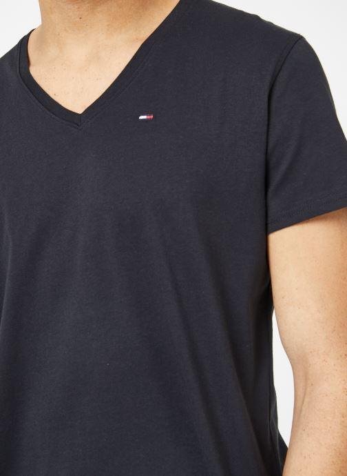 Vêtements Tommy Jeans TJM ORIGINAL JERSEY V NECK TEE Noir vue face