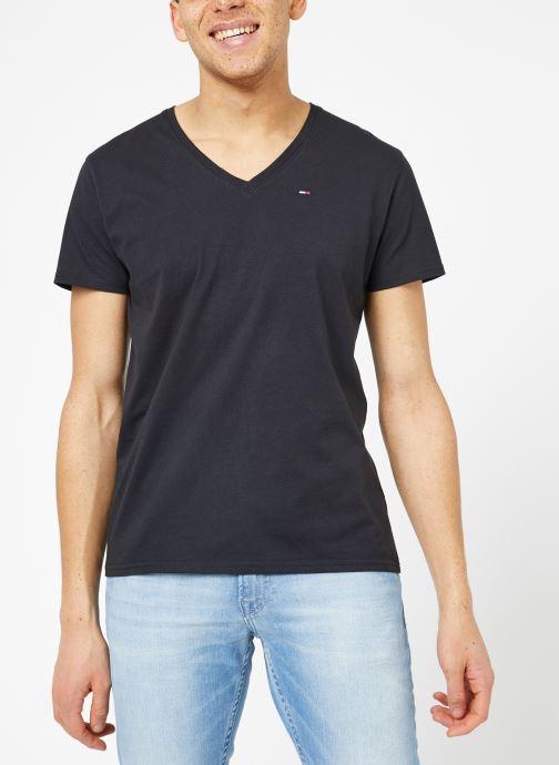 Vêtements Tommy Jeans TJM ORIGINAL JERSEY V NECK TEE Noir vue droite