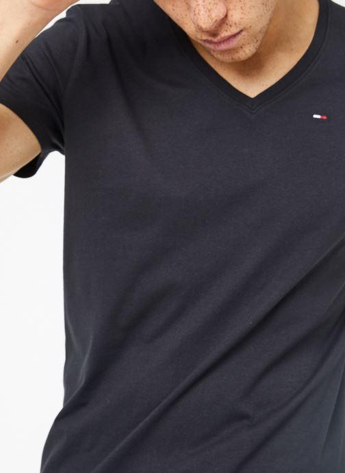 Kleding Tommy Jeans TJM ORIGINAL JERSEY V NECK TEE Zwart detail