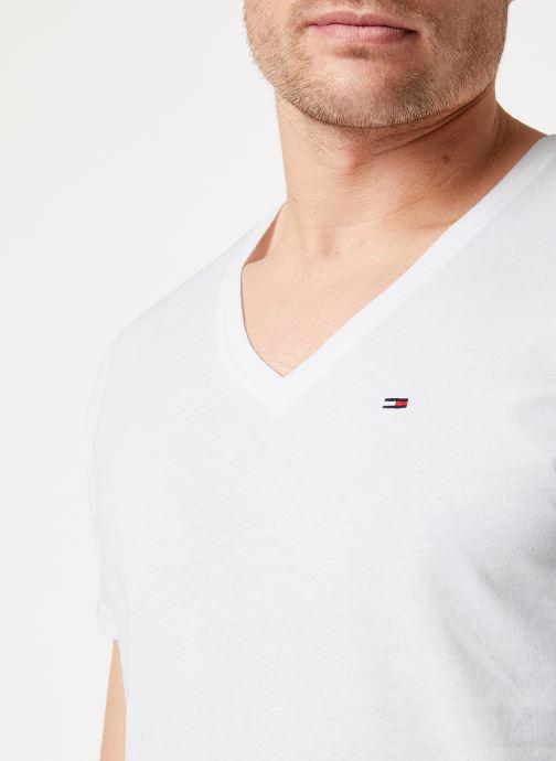 Vêtements Tommy Jeans TJM ORIGINAL JERSEY V NECK TEE Blanc vue face