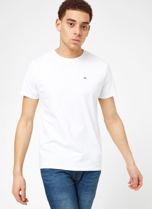 Tøj Tommy Jeans TJM ORIGINAL JERSEY TEE Hvid Se fra højre