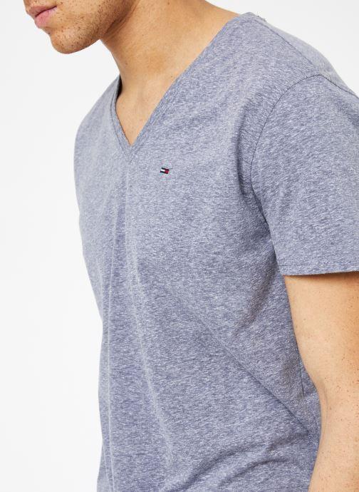 Vêtements Tommy Jeans TJM ORIGINAL TRIBLEND V NECK TEE Bleu vue face
