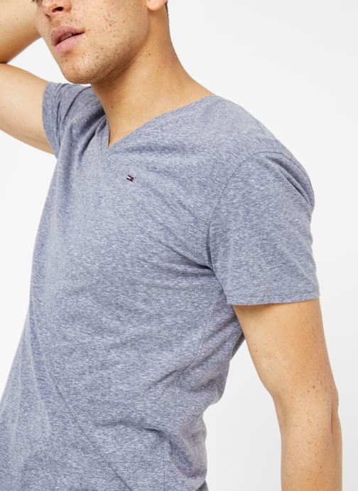 Vêtements Tommy Jeans TJM ORIGINAL TRIBLEND V NECK TEE Bleu vue détail/paire