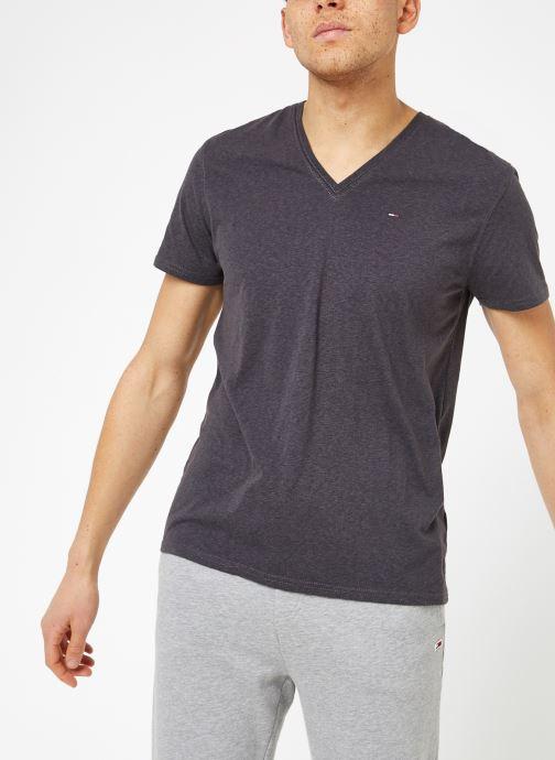 Vêtements Tommy Jeans TJM ORIGINAL TRIBLEND V NECK TEE Gris vue droite