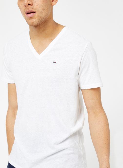 Vêtements Tommy Jeans TJM ORIGINAL TRIBLEND V NECK TEE Blanc vue détail/paire