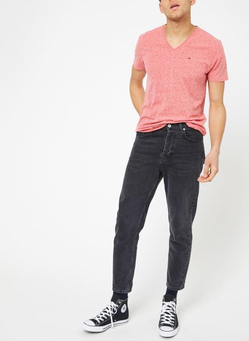 Tøj Tommy Jeans TJM ORIGINAL TRIBLEND V NECK TEE Pink se forneden