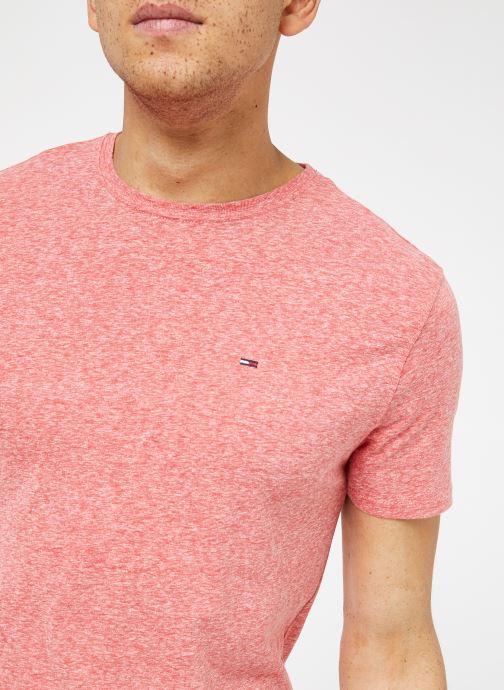 Kleding Tommy Jeans TJM ORIGINAL TRIBLEND TEE Roze voorkant