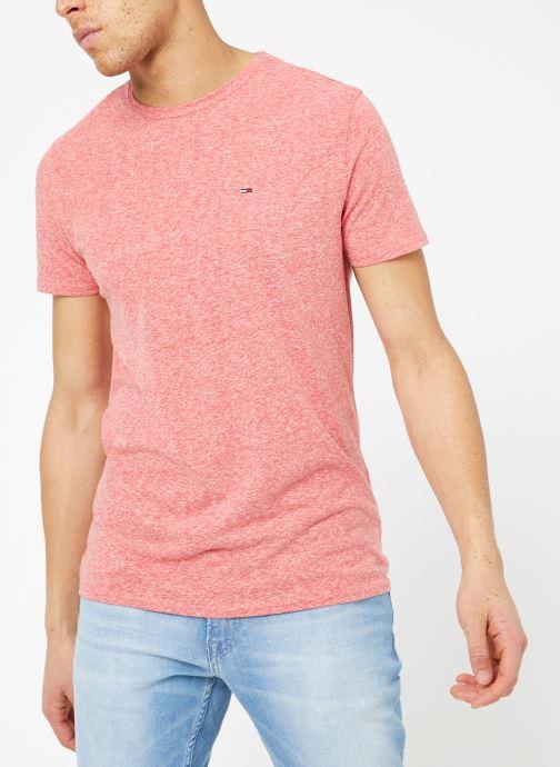 Kleding Tommy Jeans TJM ORIGINAL TRIBLEND TEE Roze rechts