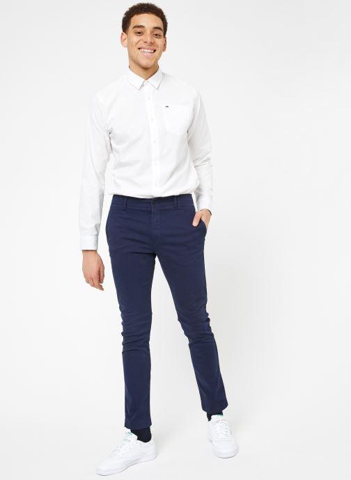 Vêtements Tommy Jeans TJM ESSENTIAL SLIM CHINO Bleu vue bas / vue portée sac