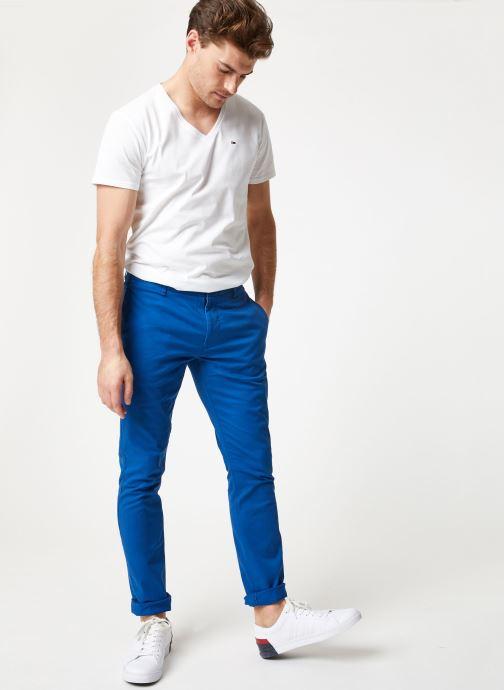 Tøj Tommy Jeans TJM ESSENTIAL SLIM CHINO Blå se forneden