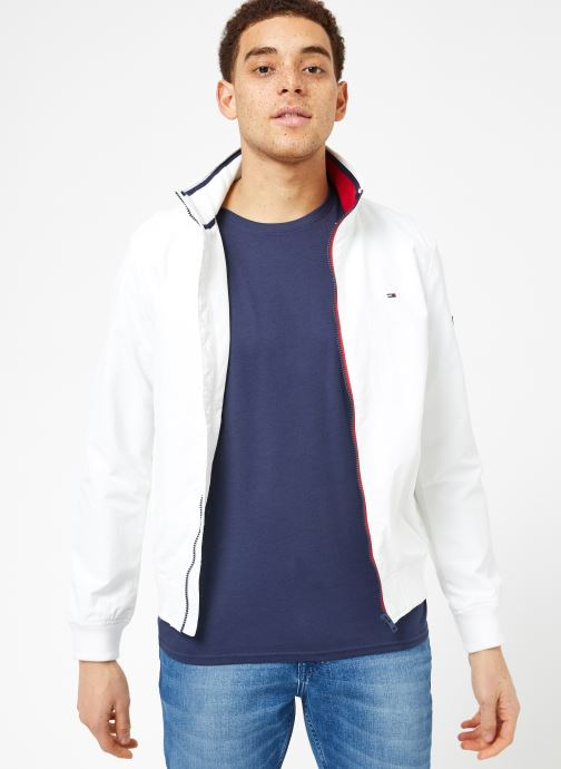 Ropa Tommy Jeans TJM ESSENTIAL CASUAL BOMBER Blanco vista lateral derecha