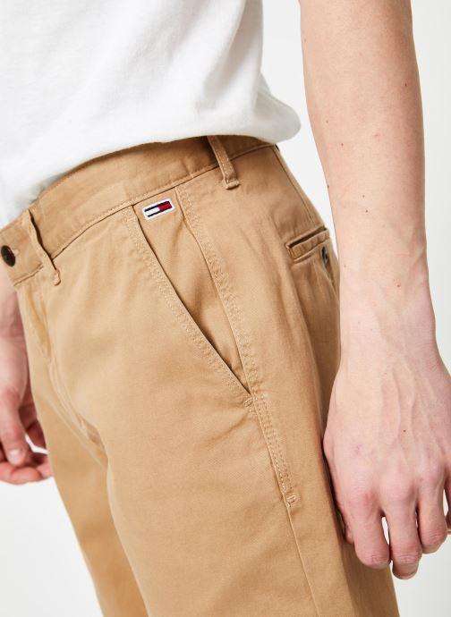 Tøj Tommy Jeans TJM ESSENTIAL CHINO SHORT Beige se forfra