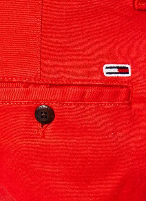 Vêtements Tommy Jeans TJM ESSENTIAL CHINO SHORT Rouge vue face