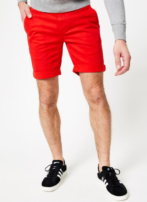 Vêtements Tommy Jeans TJM ESSENTIAL CHINO SHORT Rouge vue détail/paire