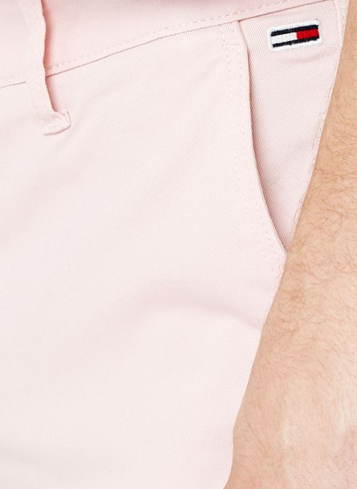 Vêtements Tommy Jeans TJM ESSENTIAL CHINO SHORT Rose vue face