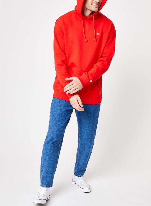 Vêtements Tommy Jeans TJM TOMMY CLASSICS HOODIE Rouge vue bas / vue portée sac