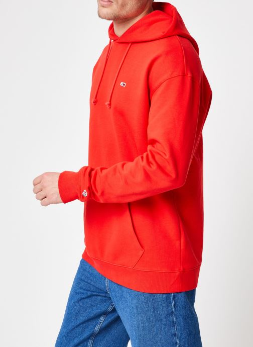 Vêtements Tommy Jeans TJM TOMMY CLASSICS HOODIE Rouge vue droite