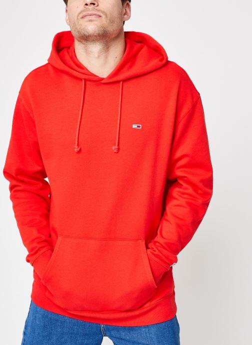 Vêtements Tommy Jeans TJM TOMMY CLASSICS HOODIE Rouge vue détail/paire