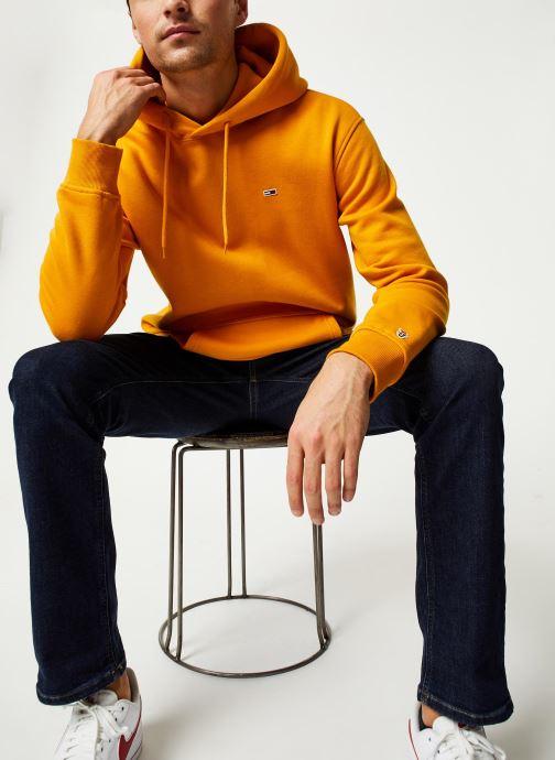 Vêtements Tommy Jeans TJM TOMMY CLASSICS HOODIE Jaune vue bas / vue portée sac