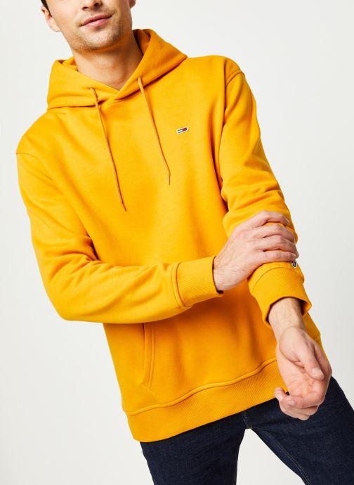 Vêtements Tommy Jeans TJM TOMMY CLASSICS HOODIE Jaune vue détail/paire