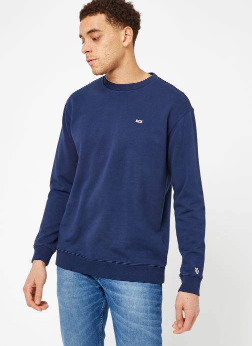 Tøj Tommy Jeans TJM TOMMY CLASSICS CREW Blå Se fra højre