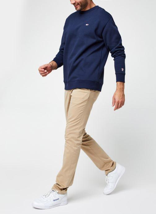 Vêtements Tommy Jeans TJM TOMMY CLASSICS CREW Bleu vue bas / vue portée sac