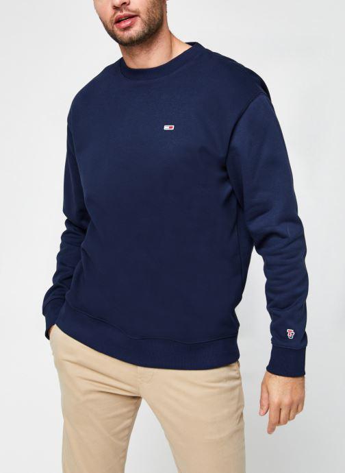 Vêtements Tommy Jeans TJM TOMMY CLASSICS CREW Bleu vue droite