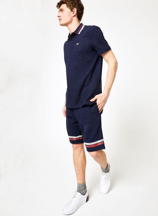 Vêtements Tommy Jeans TJM TOMMY CLASSICS STRETCH POLO Bleu vue bas / vue portée sac