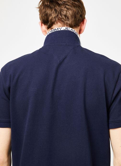 Vêtements Tommy Jeans TJM TOMMY CLASSICS STRETCH POLO Bleu vue face