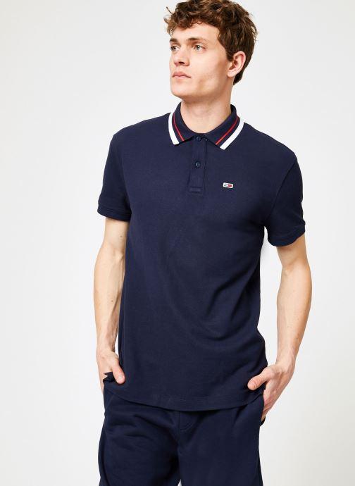 Vêtements Tommy Jeans TJM TOMMY CLASSICS STRETCH POLO Bleu vue droite