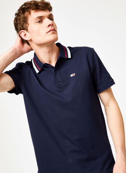 Vêtements Tommy Jeans TJM TOMMY CLASSICS STRETCH POLO Bleu vue détail/paire