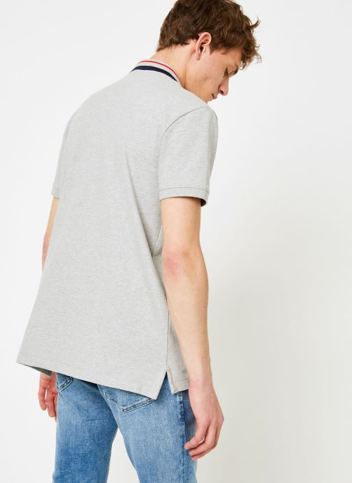 Vêtements Tommy Jeans TJM TOMMY CLASSICS STRETCH POLO Gris vue portées chaussures