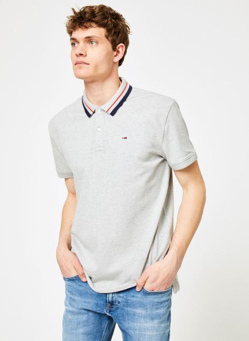 Vêtements Tommy Jeans TJM TOMMY CLASSICS STRETCH POLO Gris vue droite
