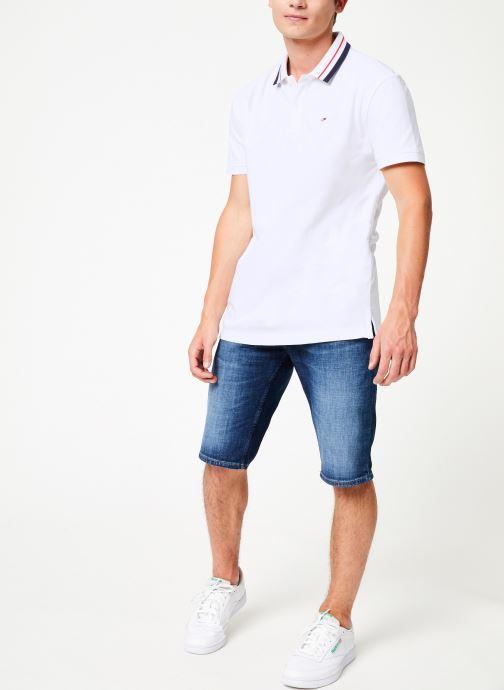 Vêtements Tommy Jeans TJM TOMMY CLASSICS STRETCH POLO Blanc vue bas / vue portée sac