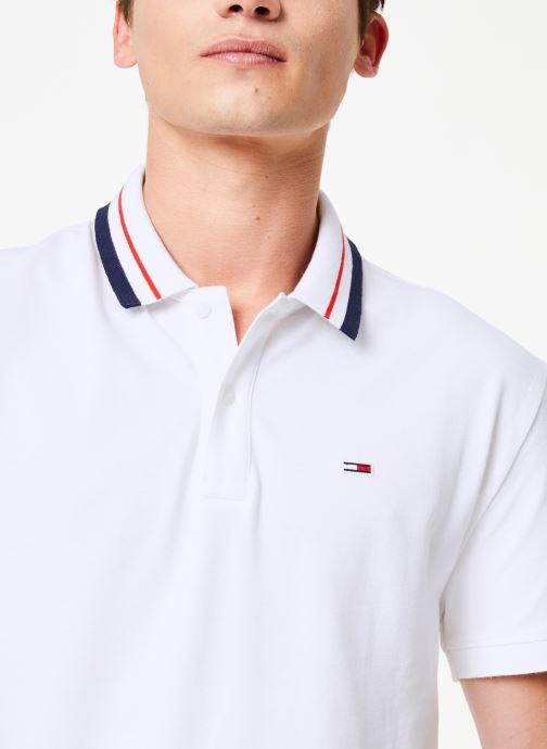 Vêtements Tommy Jeans TJM TOMMY CLASSICS STRETCH POLO Blanc vue face