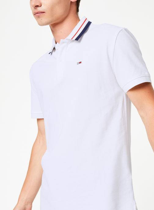 Vêtements Tommy Jeans TJM TOMMY CLASSICS STRETCH POLO Blanc vue détail/paire