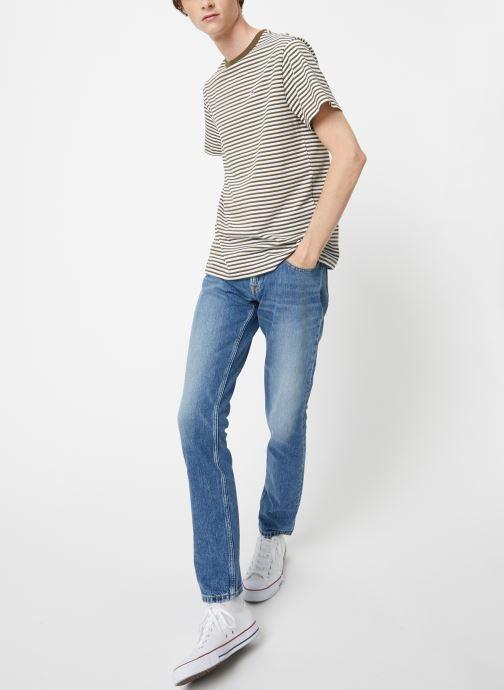 Vêtements Tommy Jeans TJM TOMMY CLASSICS STRIPE TEE Vert vue bas / vue portée sac