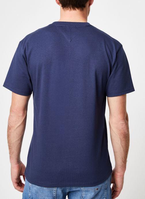 Kleding Tommy Jeans TJM COLLEGIATE LOGO TEE Blauw model